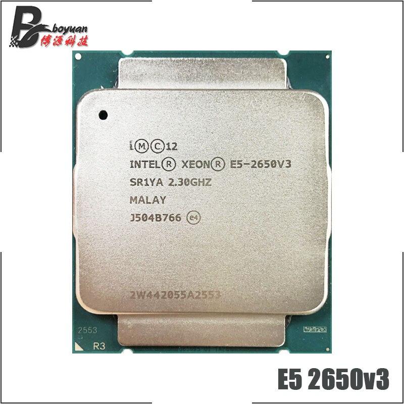 Процессор Intel Xeon E5-2650V3 E5 2650v3 E5 2650 v3 2,3 ГГц десятиядерный процессор 25 м 105 Вт LGA 2011-3