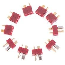 10 pièces T prise Jack connecteurs mâle + femelle Deans connecteur T pour RC LiPo batterie hélicoptère bornes connecteurs Kit