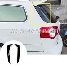 Black Rear Window Spoiler Side Wing Cover For Volkswagen VW Passat B6 Variant Wagon 2005-2010 2pcs