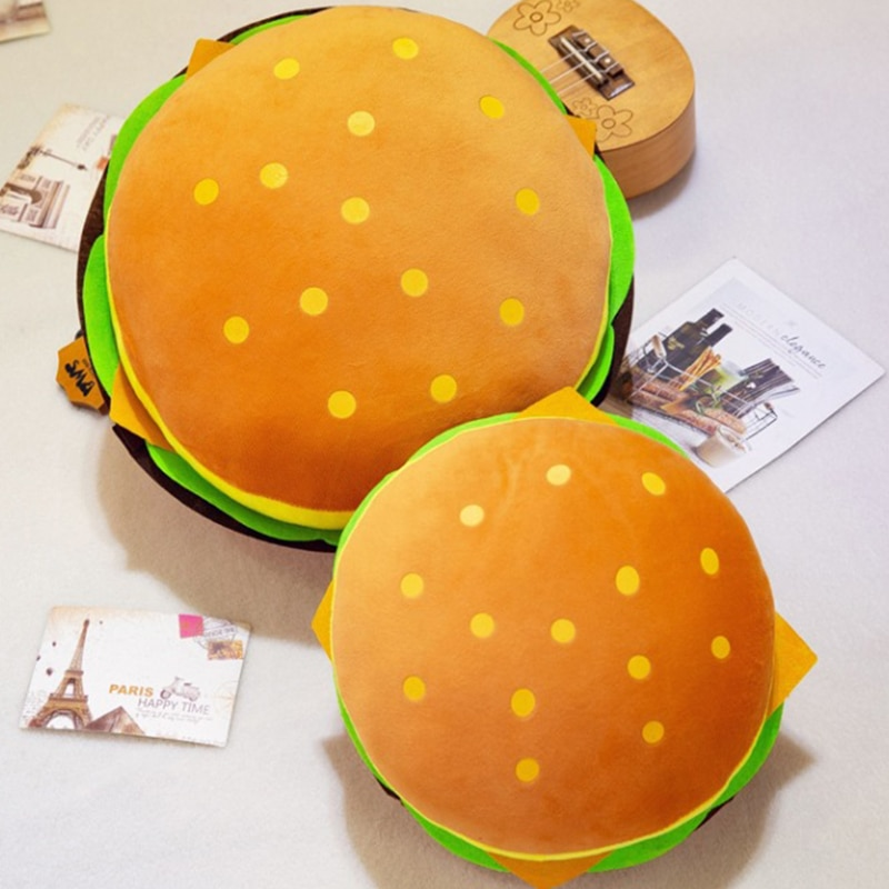 Новинка, плюшевые игрушки, подушка в форме гамбургера, креативная забавная плюшевая игрушка, кукла, подушка, детский подарок, реалистичные м...