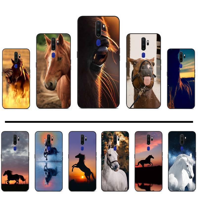 Frederik el gran bonito caballo funda de teléfono de goma suave para OPPO F 1S 7 9 K1 A77 F3 RENO F11 A5 A9 2020 A73S R15 REALME PRO
