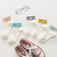 new autumn socks women cotton big eyes ladies socks personality korean style boat socks breathable and comfortable wholesale