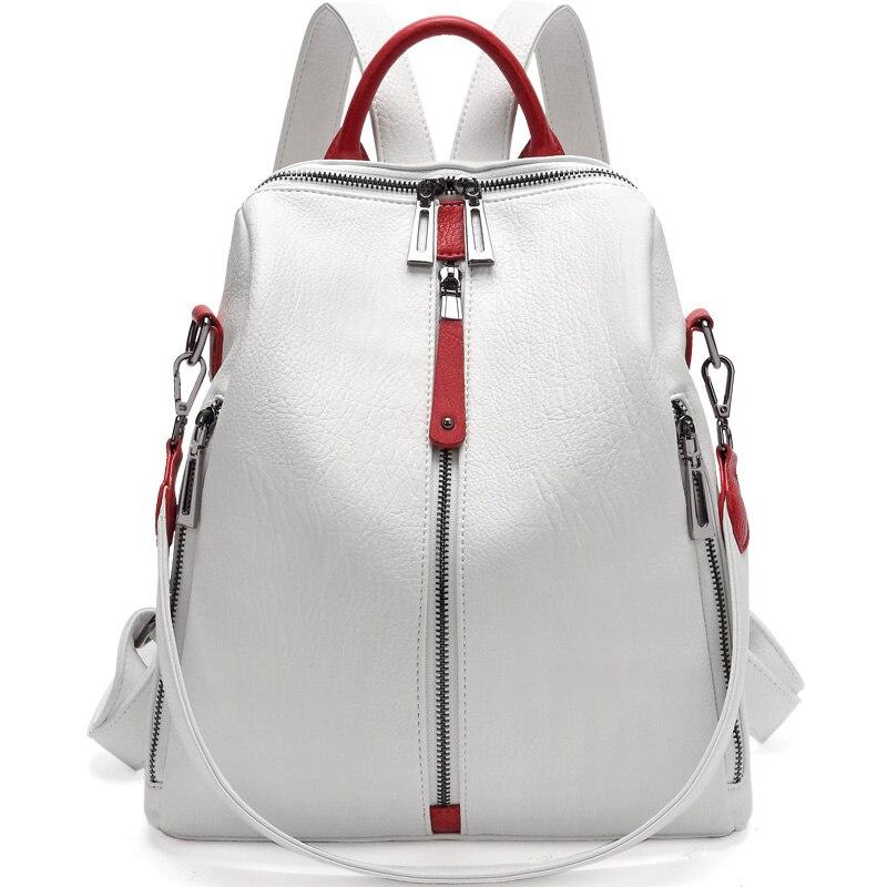 Real Leather Backpack Women Fashion White Designer Backpacks Women High Quality Mini Backpack Mochila Feminina School Bags