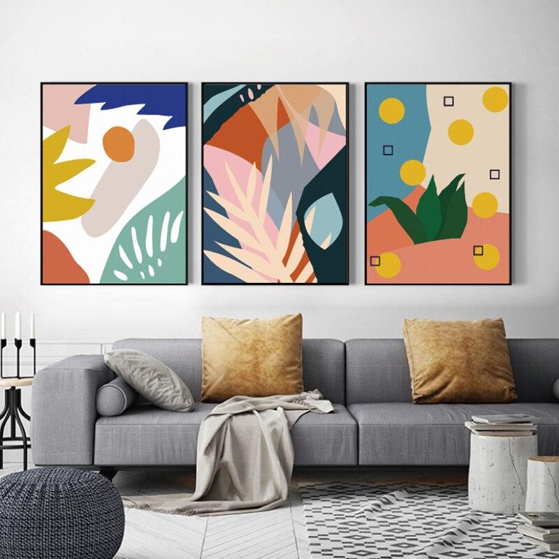 Póster moderno en lienzo para sala de estar, impresiones para póster con...