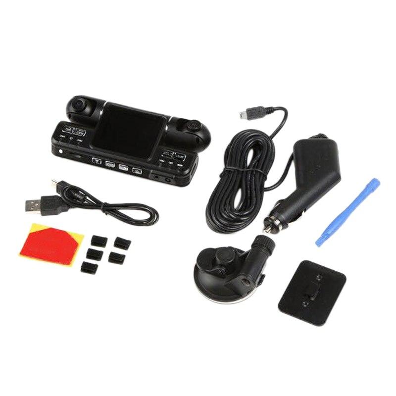 Cycle Car Dvr Dual Lens I4000 Hd Car Dvr Camera Recorder 2.0 Inch Lcd G-Sensor 320 Degree 2 Camera Dash Camera