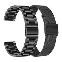 Ремешок из нержавеющей стали для часов xiaomi mi, сменный спортивный браслет для смарт-часов xiaomi mi, черный