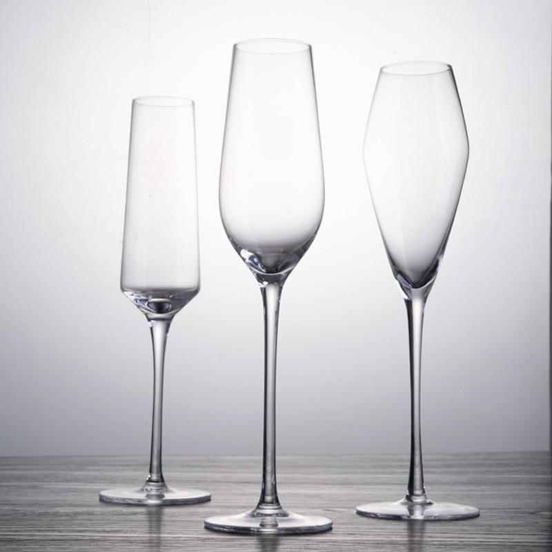 Copas De champán De 200ml, copa De Cristal para vino, copa De cóctel, sin plomo, para fiesta familiar