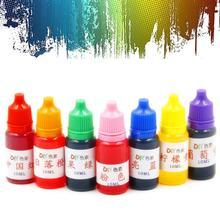 Bricolage jouets éducatifs pour enfants Colorant ensemble de colorants Slime bijoux fabrication de Pigments de résine liquide sans danger pour la peau Slime bijoux Colorant Pigment