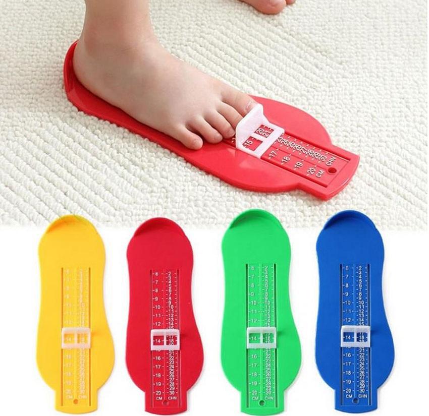 Colorido PIE de bebé gobernante niños pie longitud dispositivo de medición de zapatos de niño calculadora para Chikdren zapatos accesorios calibrador herramientas