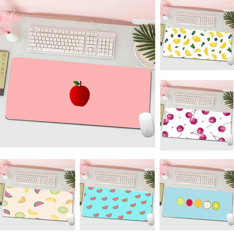 Cartoon fruit Keyboards Mat Rubber Gaming mousepad Desk Mat Gaming XL Large Gamer Keyboard PC Desk Mat Computer Tablet Mouse Pad
