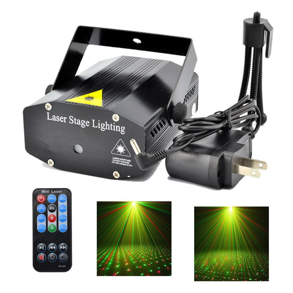 Mini Sky Star Beam Lamp Luz Music Dance Effect Laser Projector For DJ KTV Home Xmas Party LED Stage Lights New Year Holiday Gift