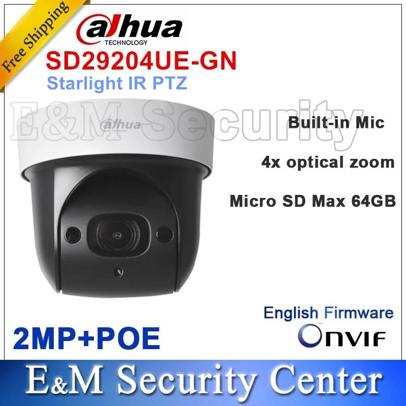 Original dahua SD29204UE-GN ersetzen DH-SD29204T-GN IP 2MP Sternenlicht mini PTZ Dome POE Kamera 4x IR PTZ SD29204UE-GN