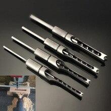 Brocas helicoidales HSS, juego de herramientas para taladro de carpintería, taladro cuadrado, cincel mordedor, sierra extendida de agujero cuadrado de 6,0mm ~ 16mm