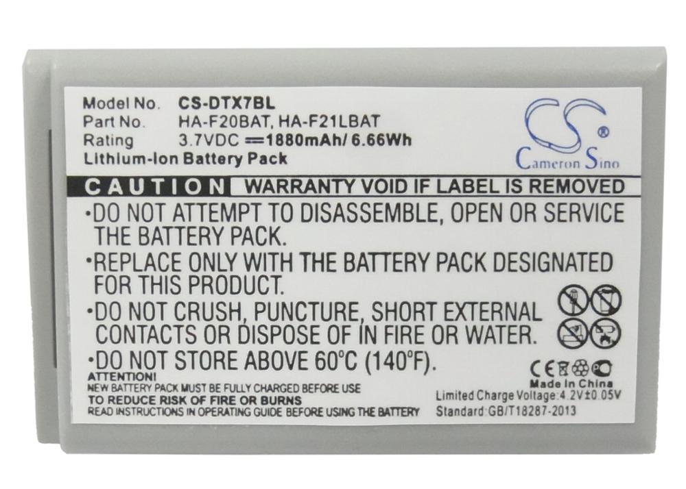 Аккумулятор Cameron Sino 1880mAh для сканера Casio DT-X7,DT-X7M10E,DT-X7M10R,HA-F21LBAT