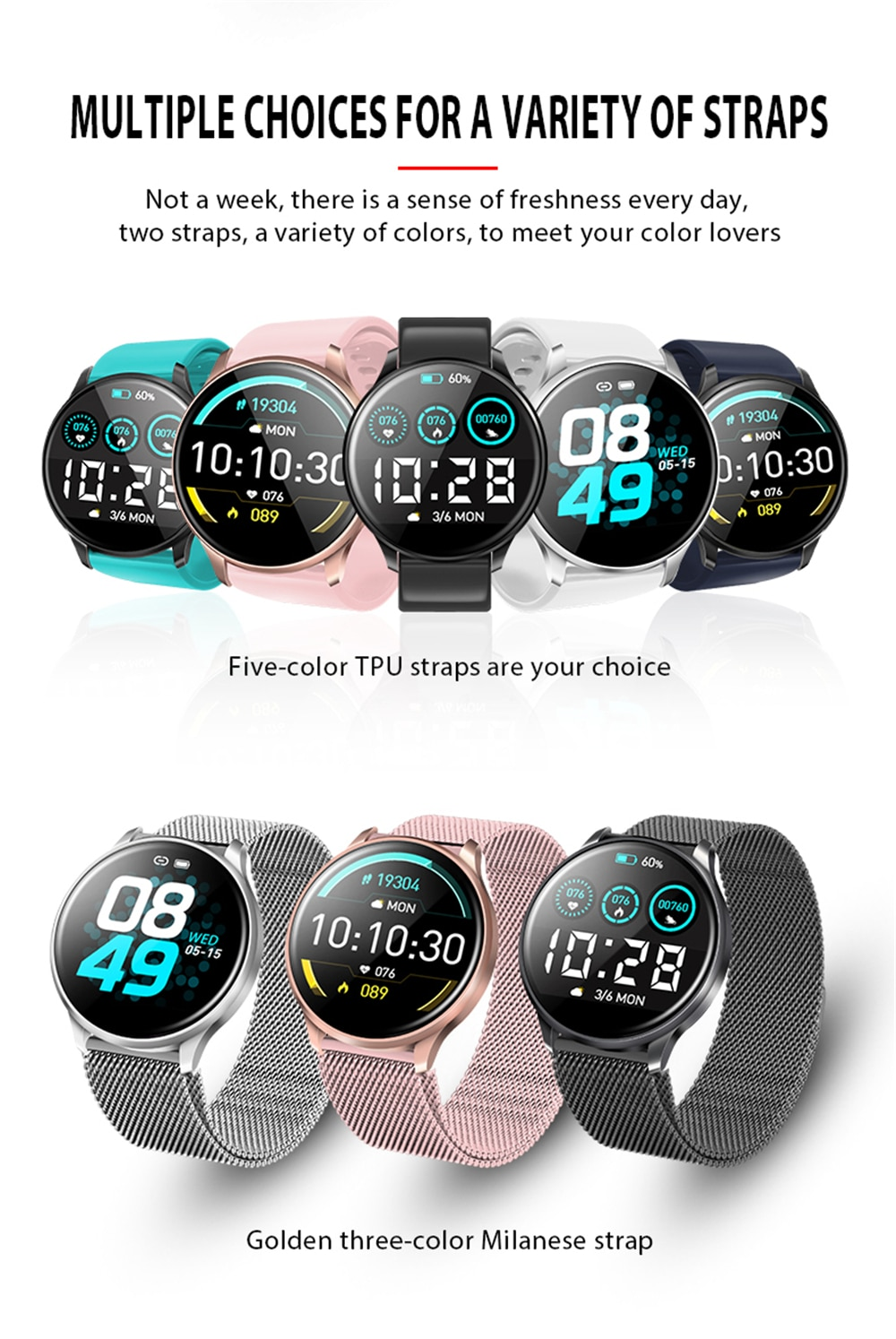 Smart Watch C198S Women Watch Smart Wristban Outdoor Bluetooth Smartwatch For iPhone Xiaomi Heart Rate Monitor Fitness Tracker