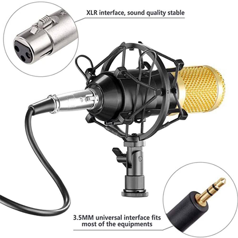 Professional BM800 Studio Condenser Microphone 3.5mm Wired BM800 Condenser Sound Recording Microphone For Computer enlarge