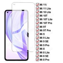 9D Protective Glass For Xiaomi Mi 11 10 Lite 10i 11i 9T 10T Pro 5G Screen Protector Mi 8 9 SE A3 Poco M3 F3 X3 NFC Tempered Film