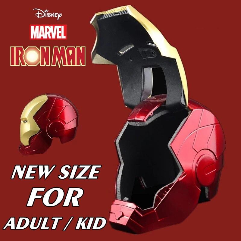 marvel wearable iron man mk5 voice activated deformation helmet New Disney 1:1 Lighting Led Ironman Movie Mask Marvel Avengers Iron Man Tony Stark Helmet Cosplay PVC Action Figure Toys Gift