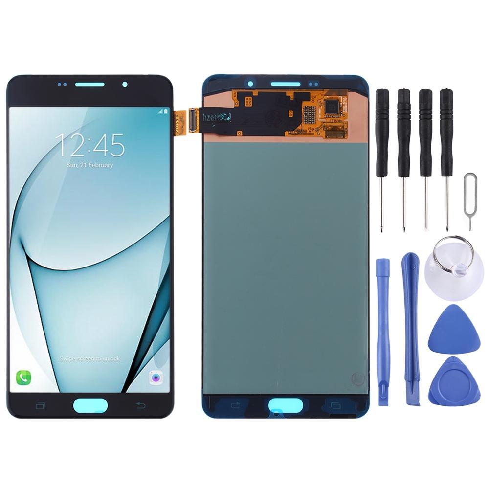 IPartsBuy-شاشة LCD ومحول رقمي ، تجميع كامل لهاتف Galaxy A9 Pro (2016) / A910F