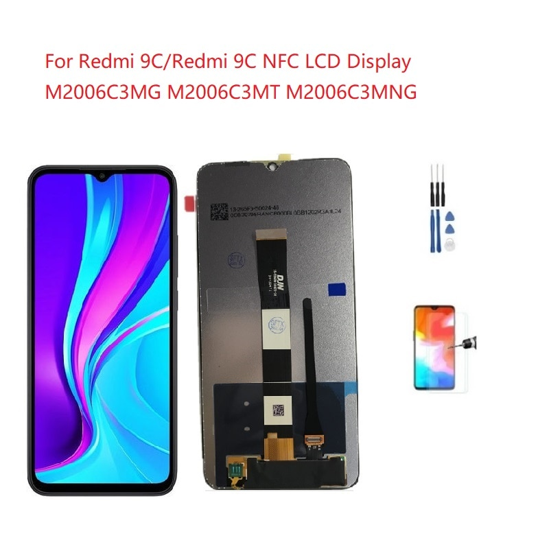لشاشة عرض شاومي ريدمي 9C Lcd M2006C3MG M2006C3MT محول رقمي LCD ريدمي 9C NFC Lcd M2006C3MNG شاشة لمس ريدمي 9C