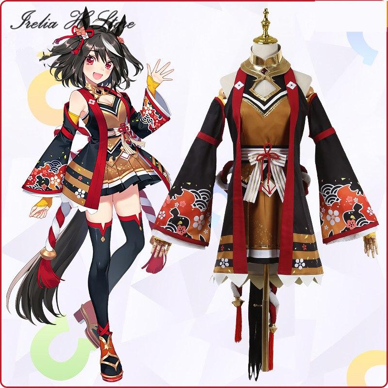 Trajes de Halloween Irelia Loja Bonito Derby Anime Cosplay Kitasan Preto Traje Vestido Feminino h