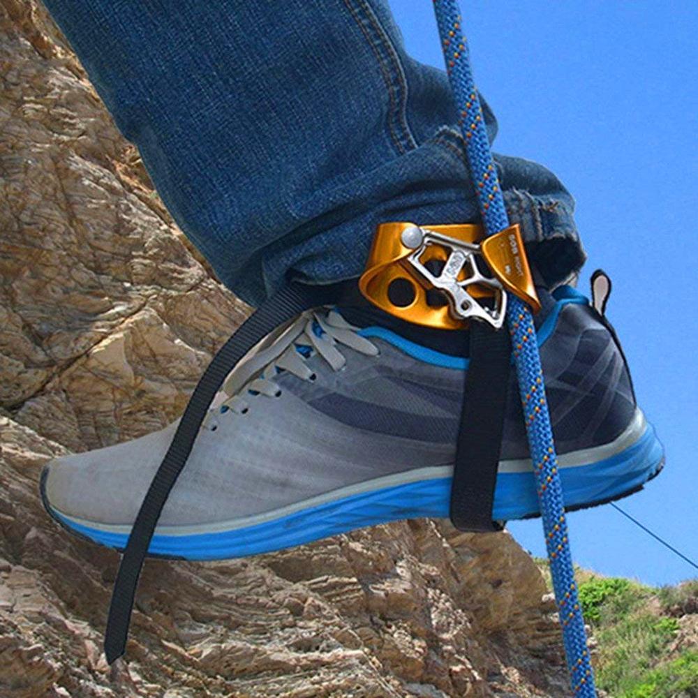 Alta qualidade pé direito ascendente riser alpinismo equipamento de escalada dispositivo anti-queda protetor acessório de escalada