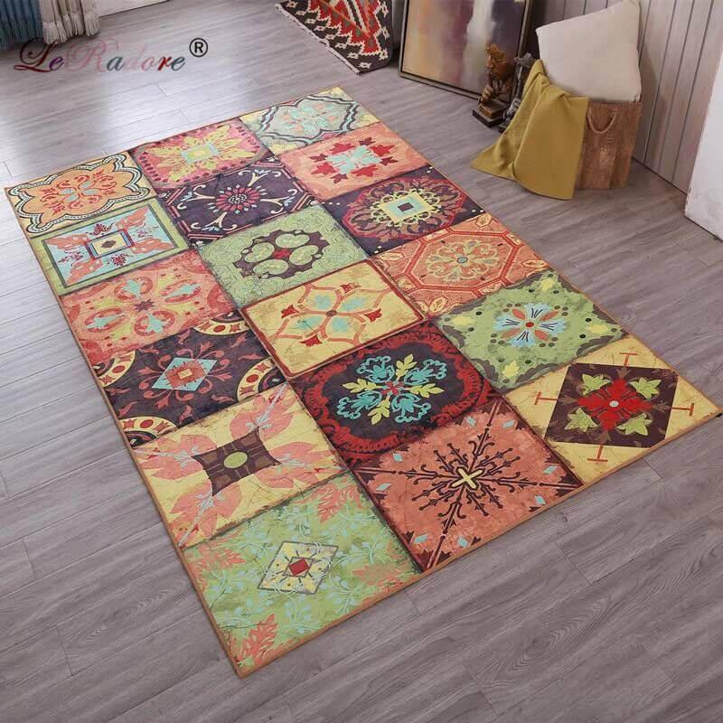 LeRadore New Non-slip Floor Rugs Carpets For Living Room Bedroom Floor Rugs Coffee Table Art Rug Meeting Room Mats 180*250cm