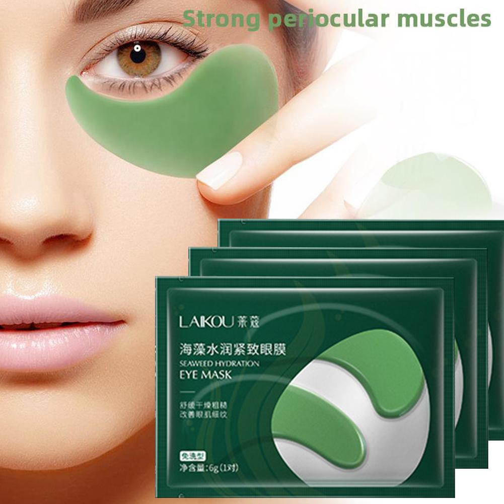 Crystal Seaweed Essence Eye Mask Eye Patches Eye Bags Dark Circles Remover Anti-wrinkle Moisturizing Face Gel Eye Care