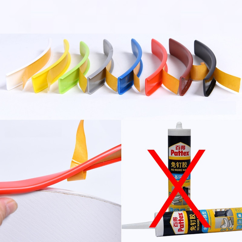 Cinta adhesiva para bordes en U 9MM 10MM 12MM 16MM 18MM 22MM 28MM 32MM 40MM blanco Beige gris negro rojo verde amarillo