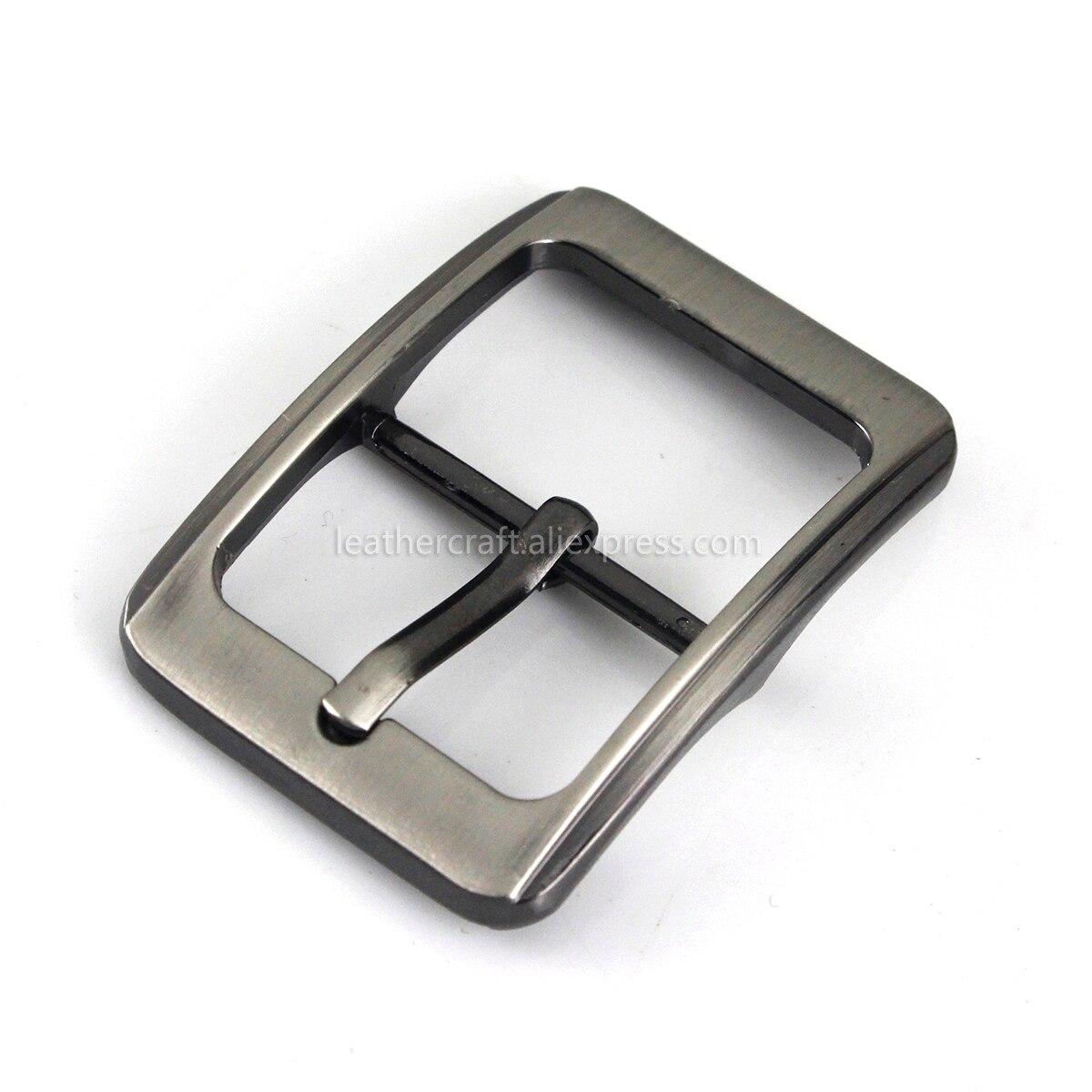 1x25mm hebilla de cinturón chapada en Metal de moda barra central hebilla de un solo alfiler correa de cuero artesanal Correa ajuste para 23-24mm