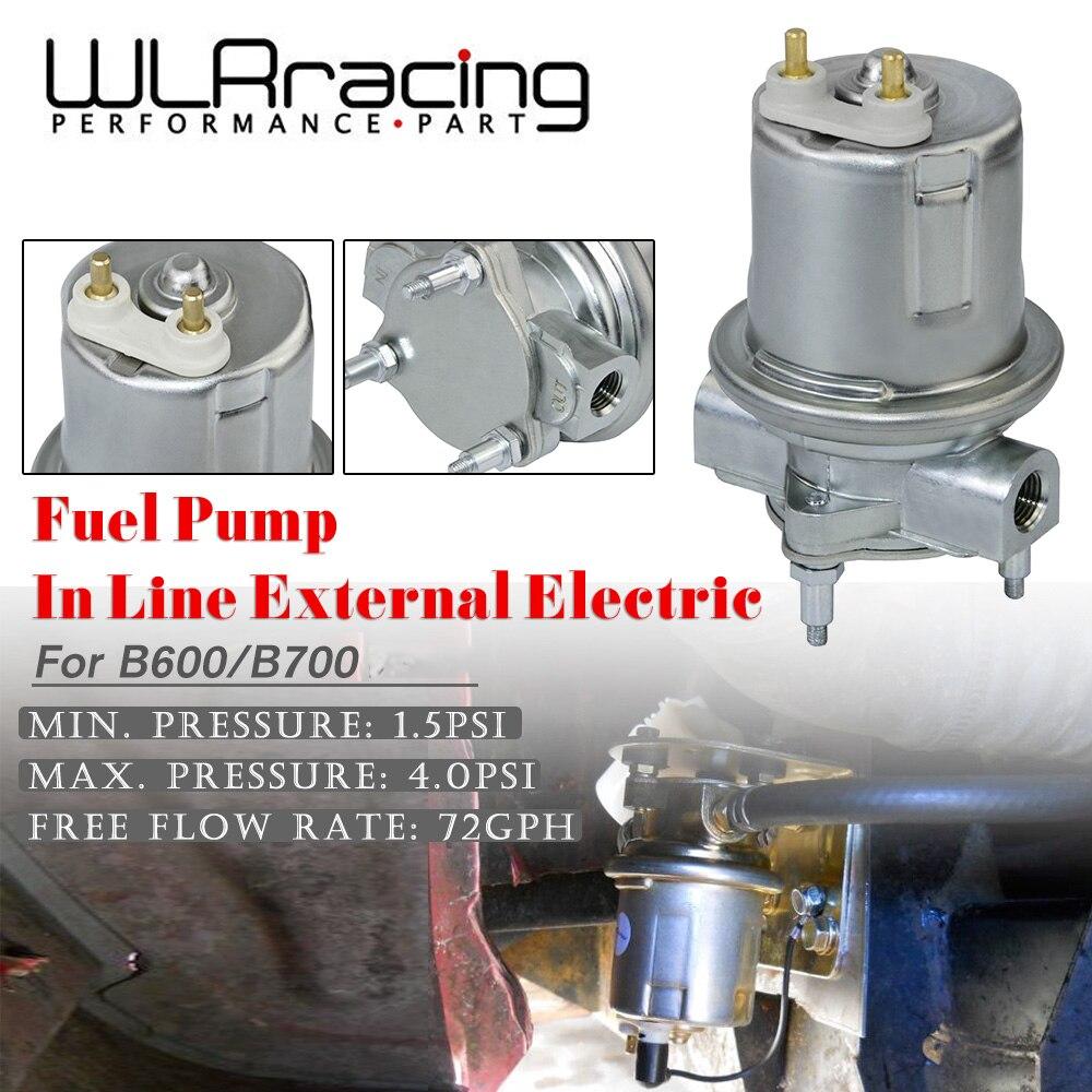 WLR bomba de combustible externa eléctrica Universal de 12V para Ford B600/B700 Bus OE Fit Pump In Line Módulo de bomba WLR-FPB112