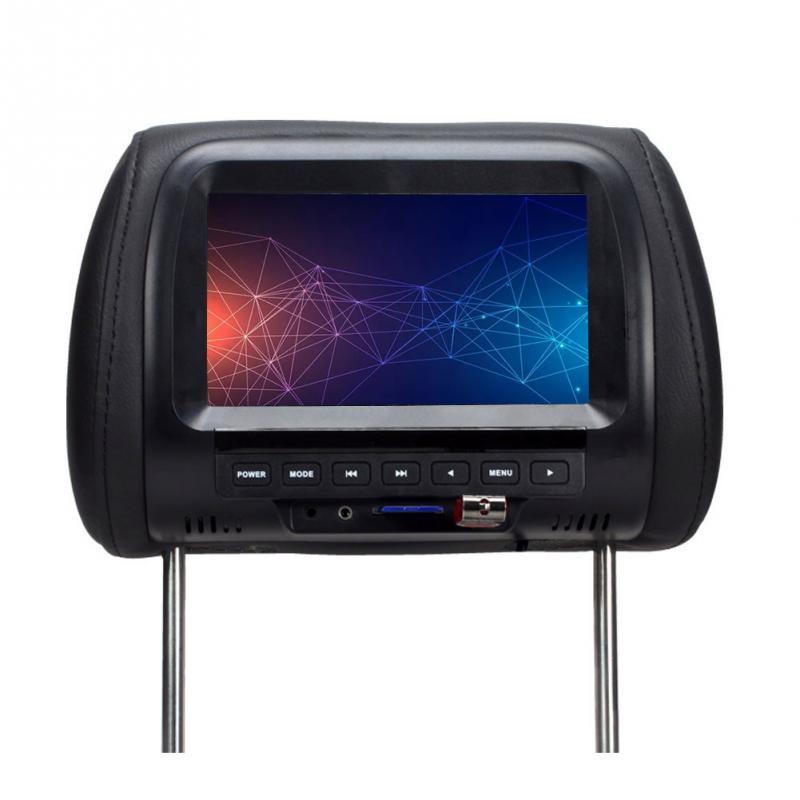 Altavoz integrado de 7 pulgadas, cámara USB Universal para respaldo de asiento o reposacabezas, Monitor reproductor de Video, soporte Digital para coche, pantalla LED multimedia