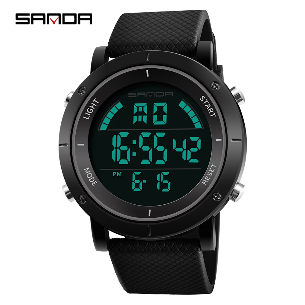 SANDA Fashion Brand Men Digital Watches Led Clock Multifunctional Life Waterproof Wristwatches Outdoor Sports Clock Montre Homme