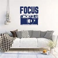 focus quote wall sticker camera wall decal for cinema studio photography studio home decor vinyl art mural dw20185