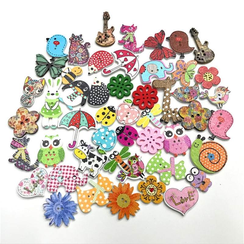 500 шт. деревянные пуговицы для скрапбукинга для одежды Швейные ремесленные украшения для скрапбукинга кнопки DIY аксессуары для одежды