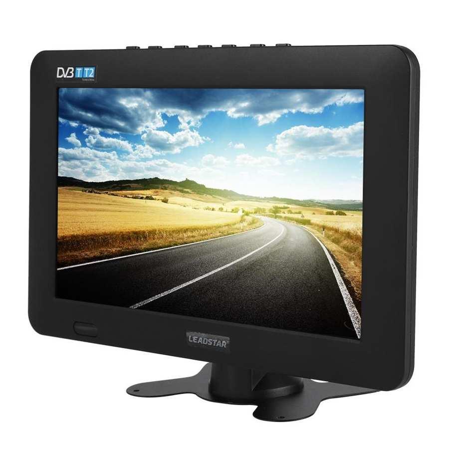 Televisión 9 pulgadas LEADSTAR DVB-T2 alta sensibilidad coche estéreo para TV Digital que rodea 1080P coche televisión mini tv Digital