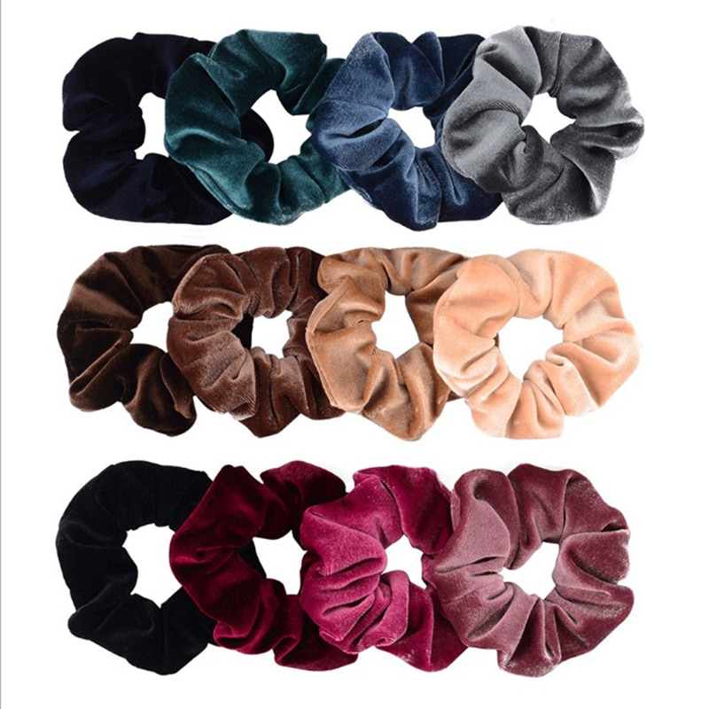 aliexpress.com - 4PCS/Set Korea Velvet Scrunchie Rubber Elastic Hair Bands Solid  Women Girls Headband Ponytail Holder Ties Rope Hair Accessories