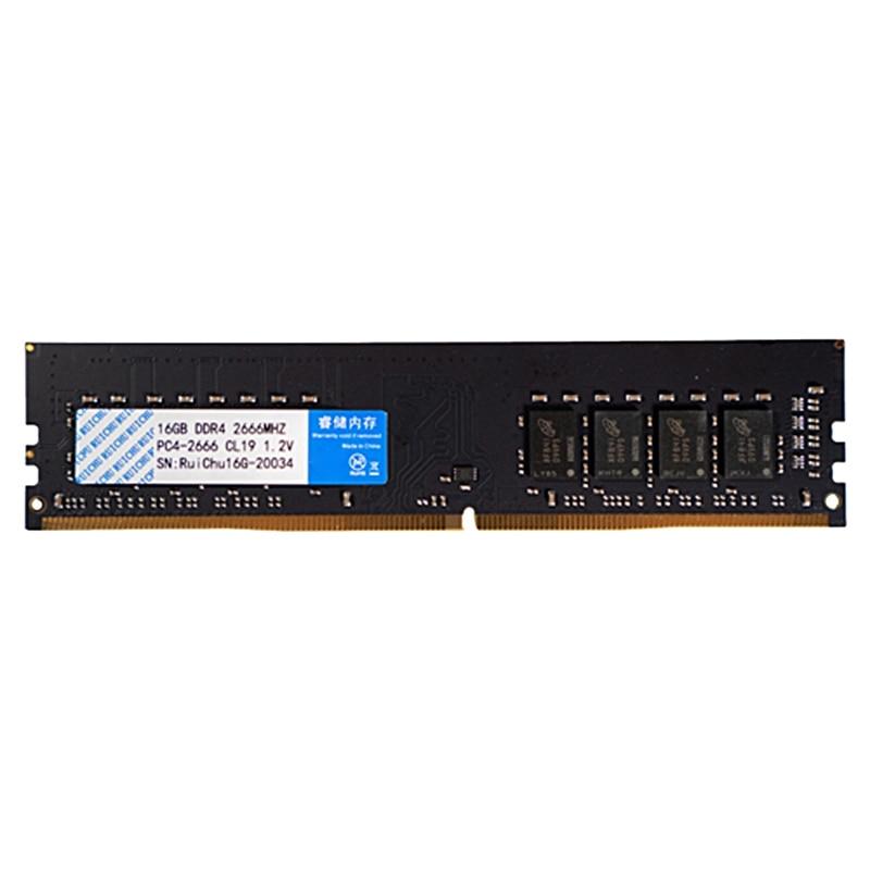 وحدة ذاكرة واحدة 16 جيجا 2666 من RUICHU DDR4 متوافقة تماما مع دعم مزدوج 2133 4G/8G