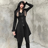 Women's Vintage Dress Gothic Slim Solid Color Long Sleeve Irregular Sweater Dresses For Women Autumn Vestidos Femininos