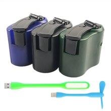 EDC USB Telefon Notfall Ladegerät für Camping Wandern Outdoor Sport Hand Kurbel Reise Ladegerät Camping Ausrüstung Überleben Werkzeuge