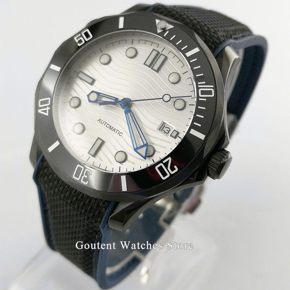 41mm BLIGER/Sterile Male Watch Clock White/Black/blue dial Mechanical Men Watches Fashional Sapphire Glass Blue Dial Wristwatch