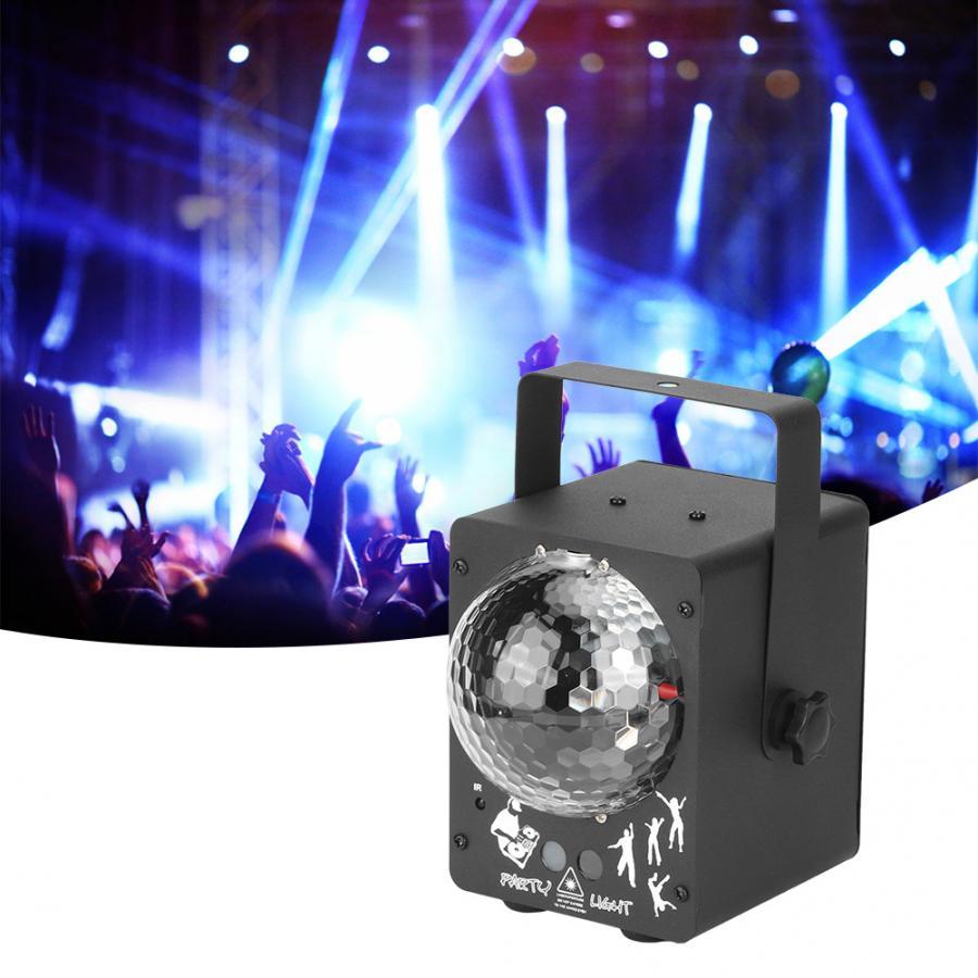 Remote Control Disco LED Stage Light RGB Projector Lights for LED Stage Ligh Party Bar Decor US Plug 100-240V