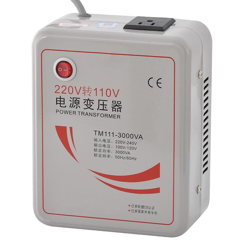 1 PC 3000w 3KVA Step Down Voltage Converter Transformer 220v-240V to 110v-120V