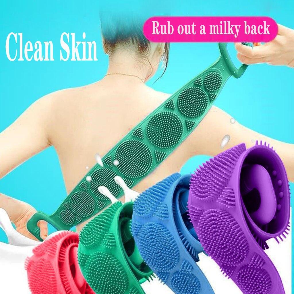2020 New Body scrub sponge scrub for body brush back scrub accessories bath wipes belt shower brushes scrubber sponge