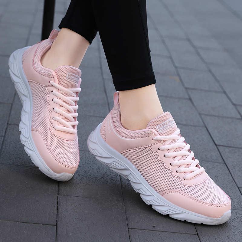 Zapatillas deportivas con plataforma para mujer, calzado deportivo para caminar, tenis, ocio,...
