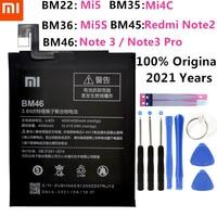 BM35 BM36 BM22 BM45 BM46 Аккумулятор для Xiao Mi 5 5S 4C Red Mi Note 2 3 Pro сменная батарея для телефона большой емкости + Бесплатные инструменты