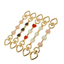 Heart Shape Purse Bags Strap Extenders Chain Charms For Handbag Crossbody Shoulder Bag Accessories S