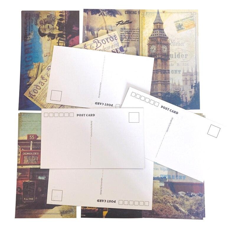 20 шт./упак. старые фотографии пейзаж Парижа открытки собирать открытки поздравительные открытки подарки на Рождество