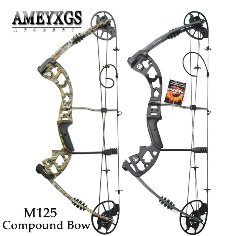 1set 30-70lbs Adjustable Pulley Bow Shooting Competition M125 High-quality Compound Bow IBO 320FPS For Archery Hunting Bow