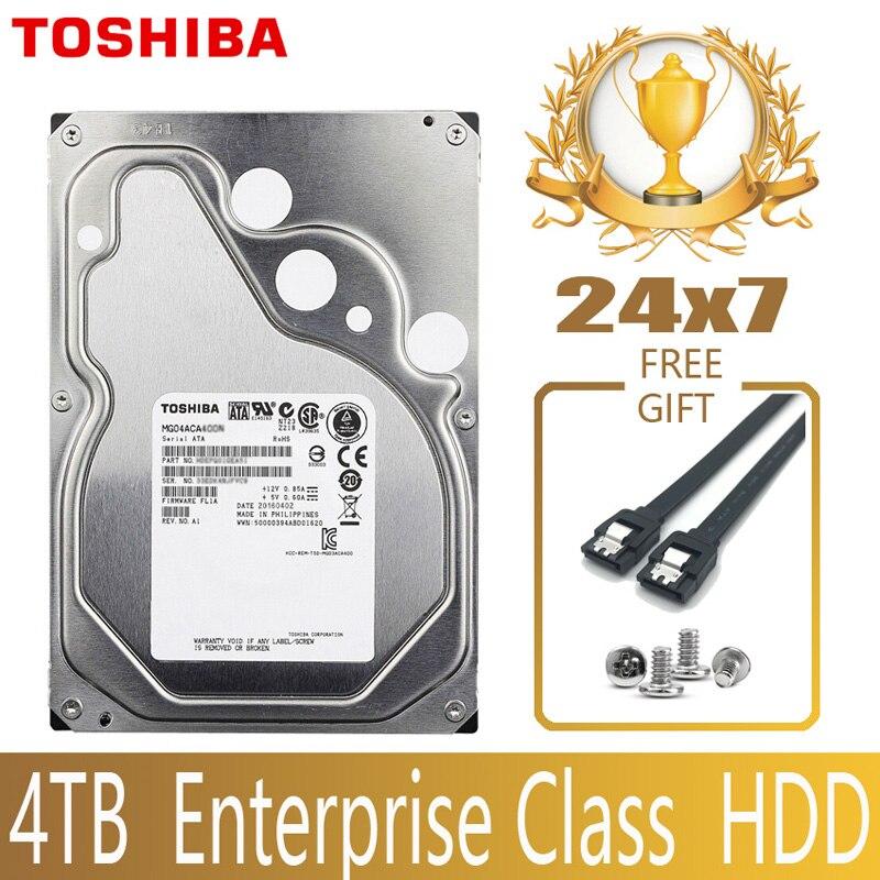 "TOSHIBA 4 ТБ корпоративный класс жесткий диск HDD HD Внутренний SATA III 6 ГБ/сек. 7200 об/мин 128 М 3,5 ""жесткий диск 24/7 24X7 Gamin"